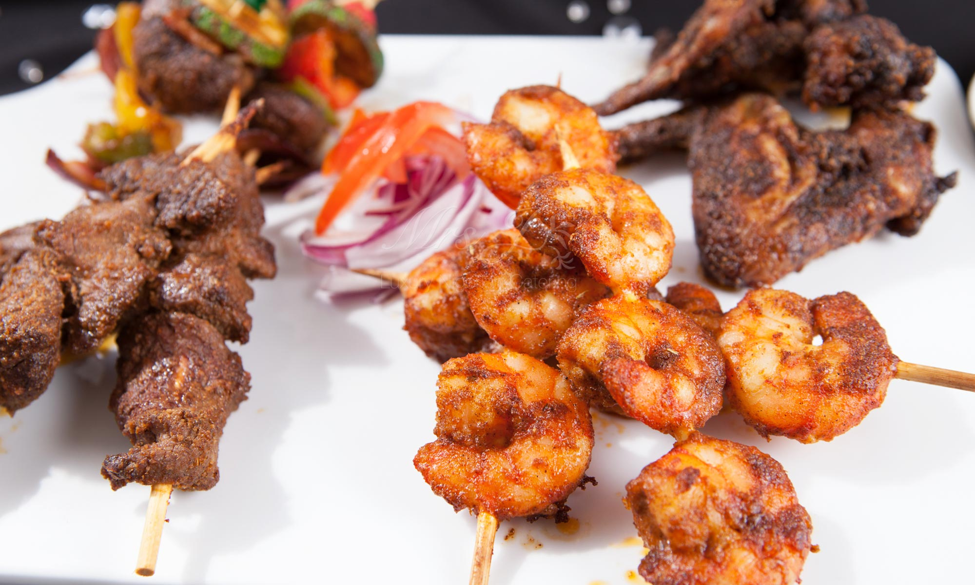 Sample menu luxury nigerian catering for weddings for Canape yam but