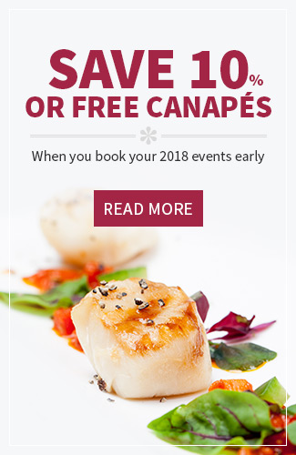 Book your 2018 events early
